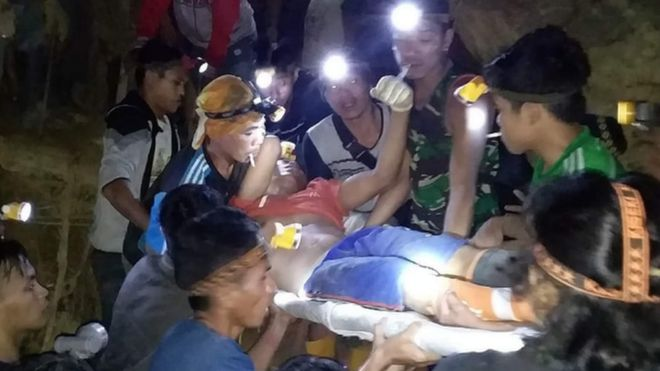 Image result for Indonesia mine collapse: Dozens buried by landslide in Sulawesi
