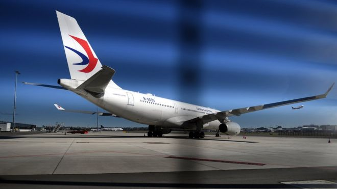 A China Eastern Airlines plane is seen at the international airport in Sydney, New South Wales, Australia, 12 June 2017