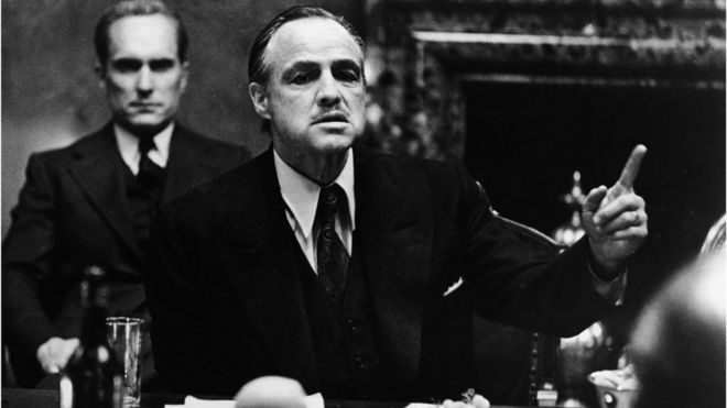 Hình ảnh Bố già Vito Corleone trong phim của đạo diễn F.F. Coppola
