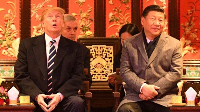 2017年11月特朗普访美时参观紫禁城。