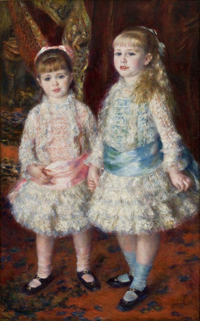 Pintura 'Alice e Elisabeth Cahen d'Anvers', mais conhecida como 'Rosa e azul', do pintor impressionista francês Renoir, de 1881 e que faz parte do acervo do Masp, em São Paulo
