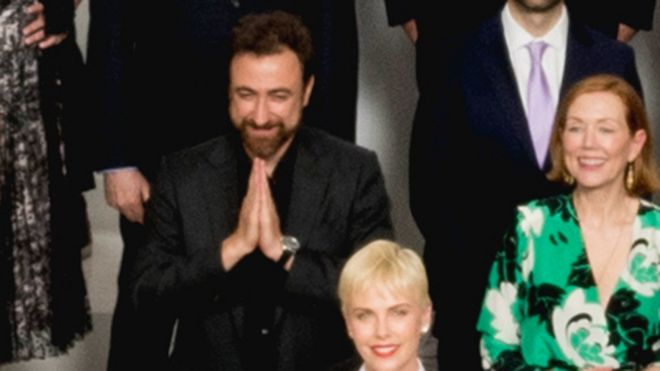 Yves Piat and Charlize Theron