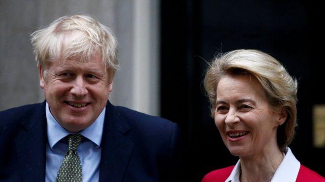 UK Prime Minister Boris Johnson and European Commission President Ursula von der Leyen