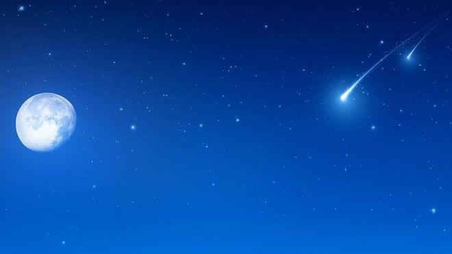 Firmamento con cometa