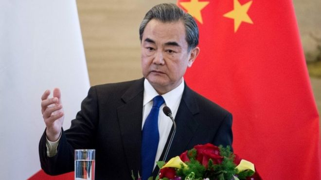 The Chinese Foreign Minister Wang Yi, 14 April 2017