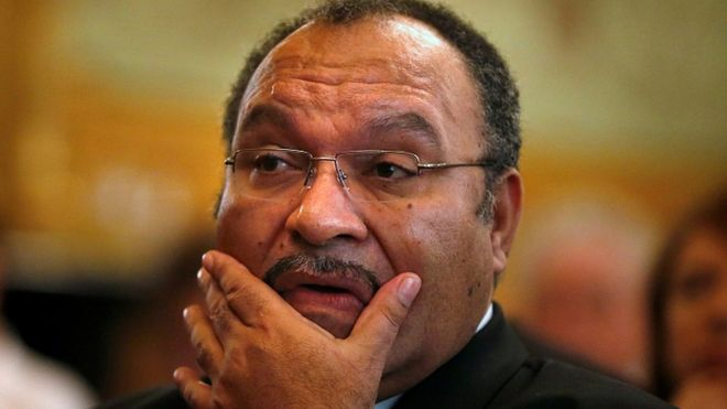 Papua New Guinea Prime Minister Peter O'Neill at the Lowy Institute in Sydney, Australia in 2012