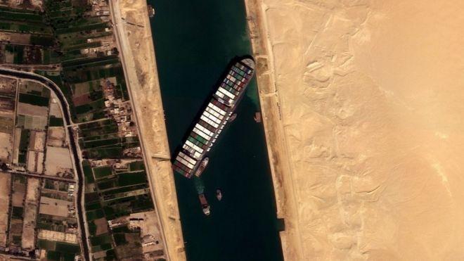 صورة بالقمر الصناعي للسفينة