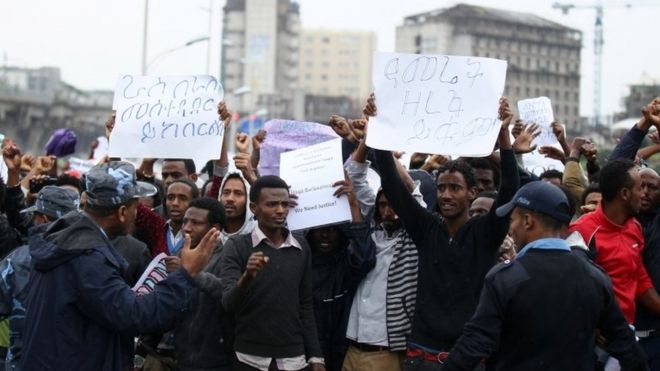 Several killed' as Ethiopia police clash with protesters