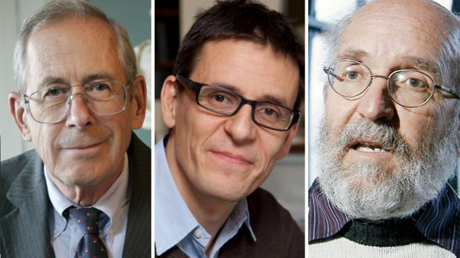James Peebles, Didier Queloz and Michel Mayor share the nine million kronor prize