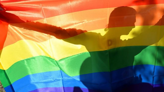 นักเคลื่อนไหวในงานเกย์ไพรด์ในกรุงเคียฟ ปี 2013