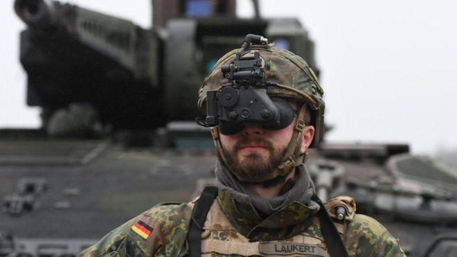 German soldier in Munster