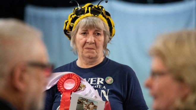 A supporter of Waspi