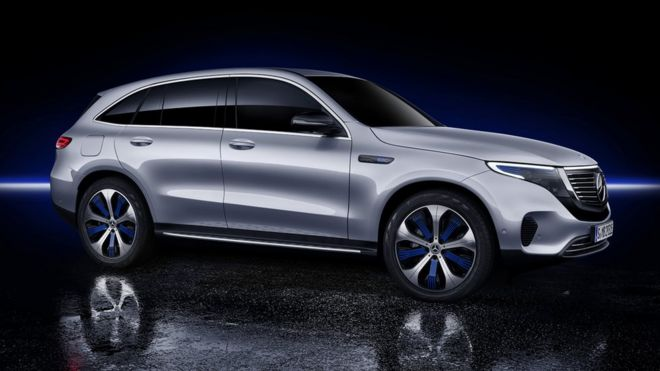 mercedes takes on tesla with fully electric suv bbc news