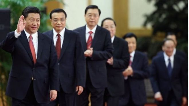 習近平和他的政治局領導人