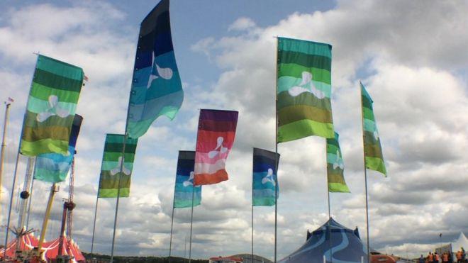 Creamfields festival flags