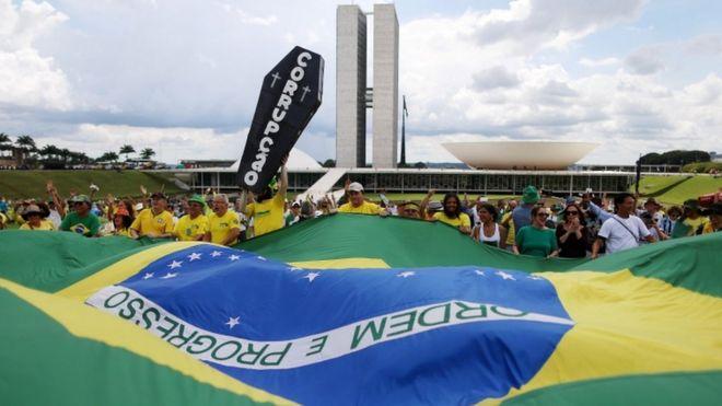 Антикоррупционная акция протеста перед Конгрессом в Бразилиа, 4 декабря 2016 года