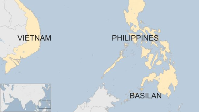 Vietnam And Philippines Map Philippines kidnap: Abu Sayyaf Islamists behead Vietnamese   BBC News