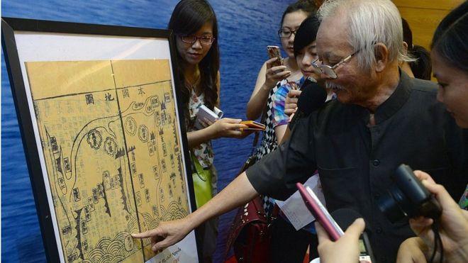 Một tài liệu Hán Nôm từ thế kể 17-18 được trưng bày ở Hà Nội năm 2014 nhằm hỗ trợ tuyên bố chủ quyền của Việt Nam ở Biển Đông