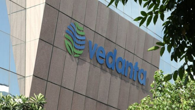 Vedanta building in India