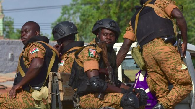 Burkina Faso Map, A Picture Take In Octtober 2018 Shows Burkinabe Gendarmes Sitting On Their Vehicle In The City, Burkina Faso Map