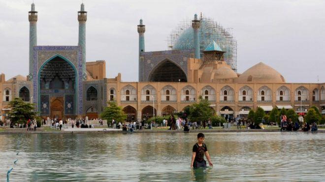 Naqsh-e Jahan Square oo ku yaalla magaalada Isfahan
