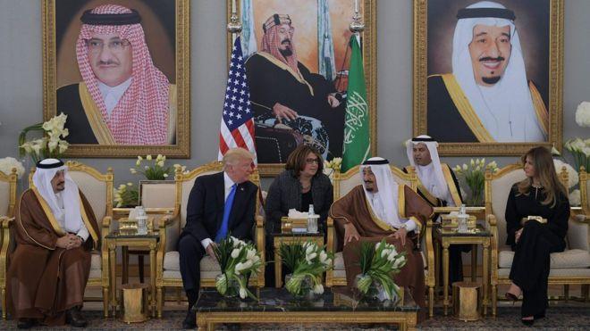 الرئيس ترامب والملك سلمان