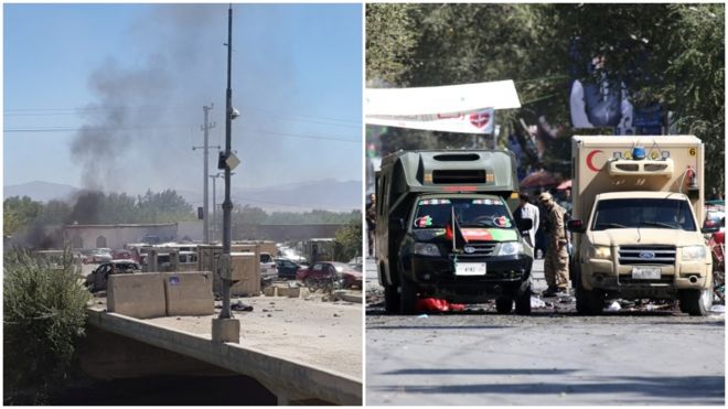 نزدیک به ۵۰ نفر در انفجارهای مرگبار کابل و پروان کشته شدند