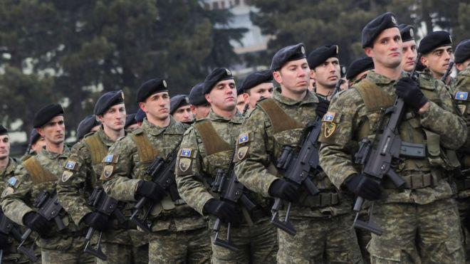 Kosovo's army dreamers enrage their Serbian neighbours - BBC