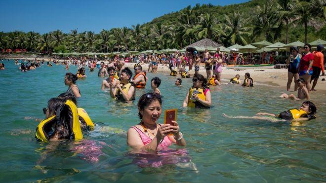 Việt Nam, Đà Nẵng, bãi biển, môi trường, bê tông hóa