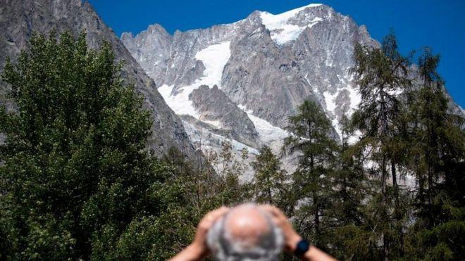 Planpincieux glacier, Mt Blanc massif, 6 Aug 20