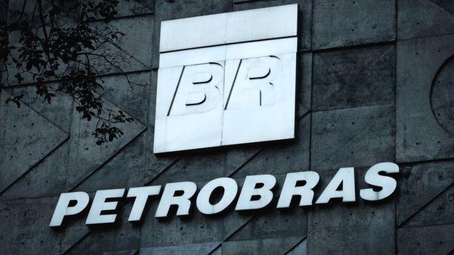 A logo of Brazilian oil company Petrobras