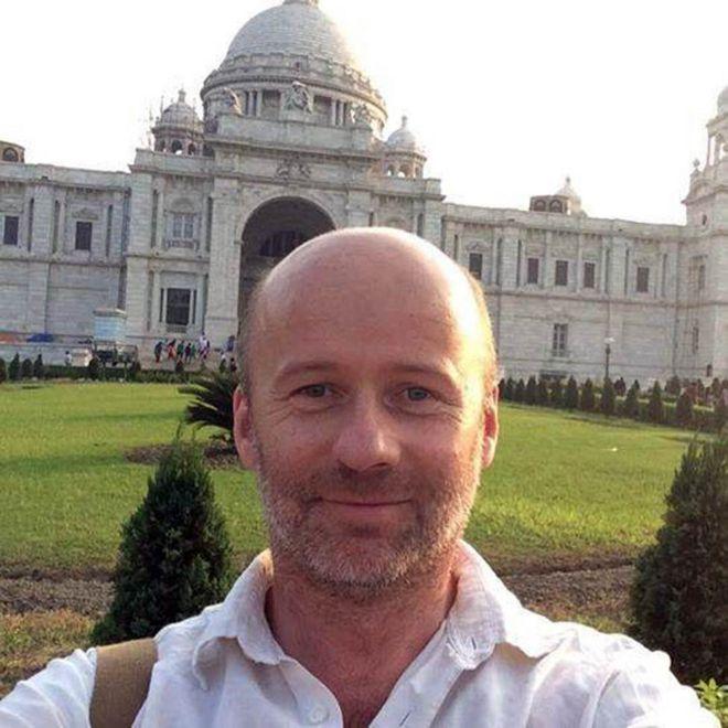Matt travelling in India in 2016