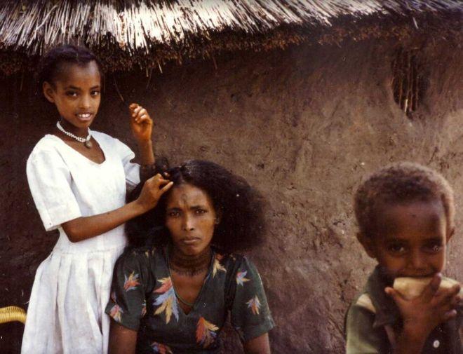 Etíopes judíos en Sudán.