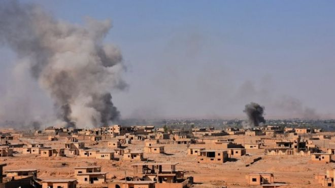 بمباران شهر دیرالزور