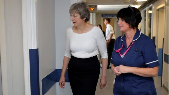 95e46302ad4 NHS 10-year plan: Labour attacks Theresa May over proposals - BBC News