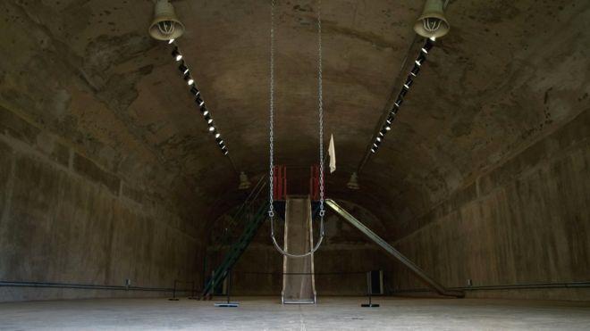 how an eerie abandoned us base near north korea turned into an art