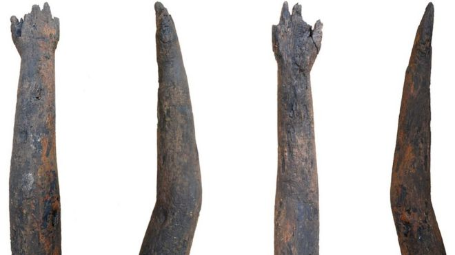 Roman Britain Wooden Arm Discovered In Northamptonshire Well Bbc News