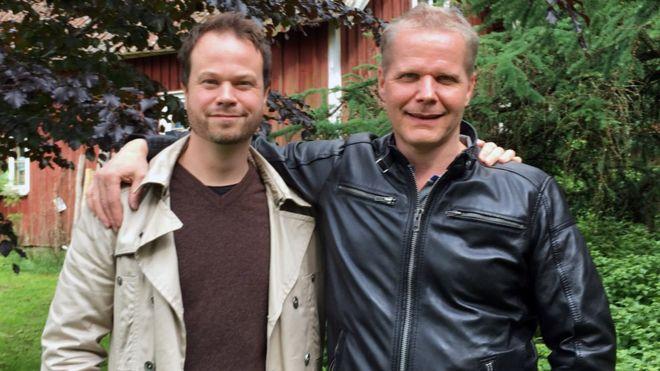 Kaj Linna with Anton Berg