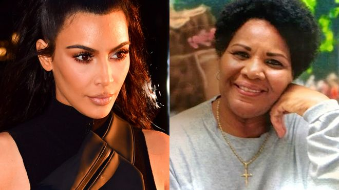 Kim Kardashian meets the woman she helped free from jail