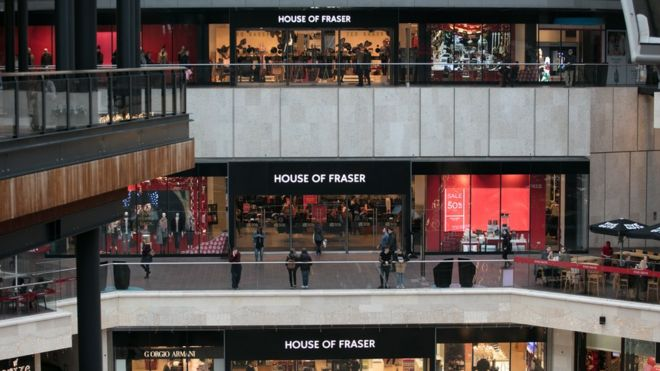 House of Fraser to close stores in bid to stay afloat - BBC News 4ffc97648