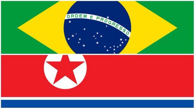 Resultado de imagem para Brasil Coreia do Norte