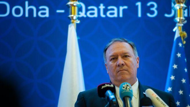 مايك بومبيو: وزير الخارجية الأمريكي يقول إن بلاده ترى أن الخلاف الخليجي يخدم مصلحة الأعداء