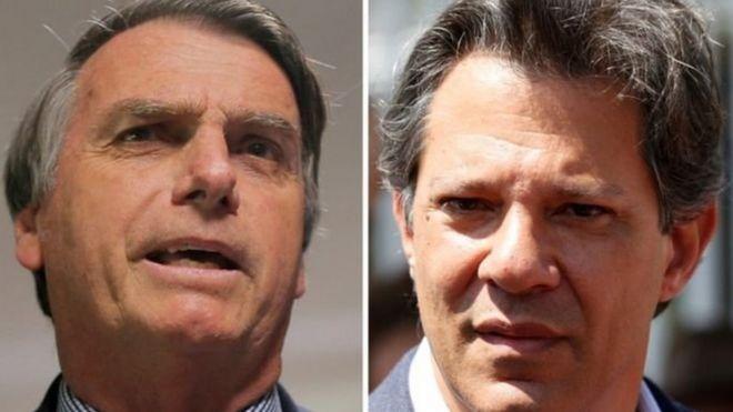 Jair Bolsonaro e Fernando Haddad