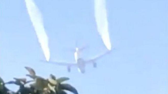 Самолет сбросил топливо на школы Лос-Анджелеса. Пострадали дети