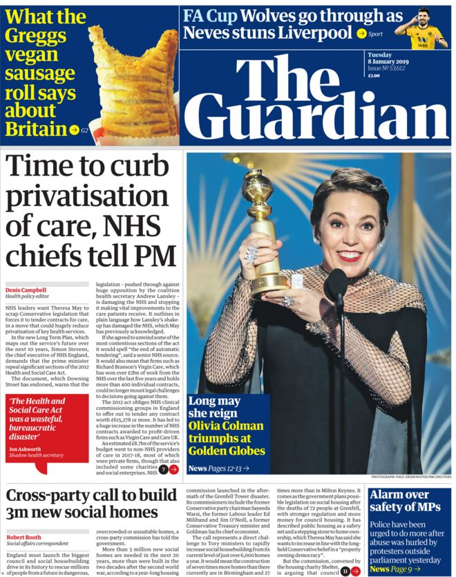 The Guardian Tuesday