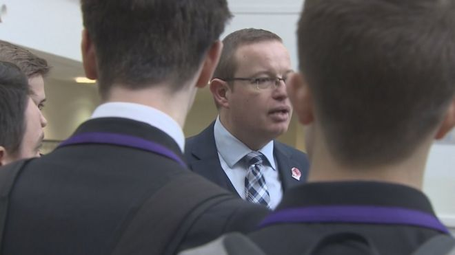 Scott Pennock, the head teacher at Wallace High School in Stirling