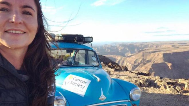 Woman Finishes Aberdeen To Cape Town Morris Minor Trip Bbc News