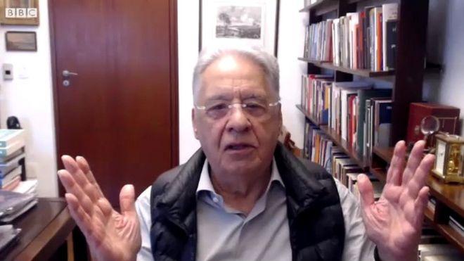 Fernando Henrique Cardoso na casa dele, em São Paulo