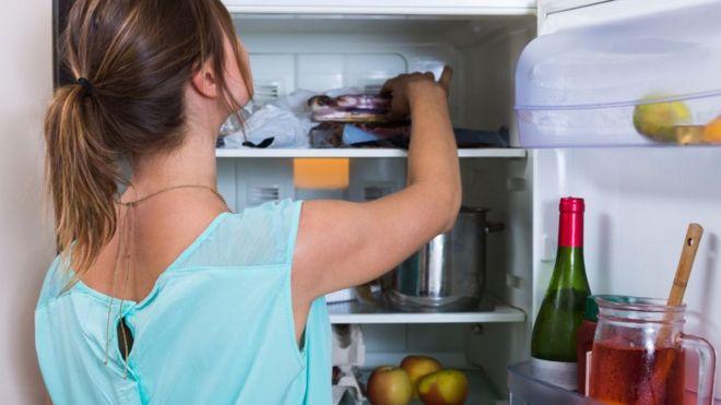 comida na geladeira