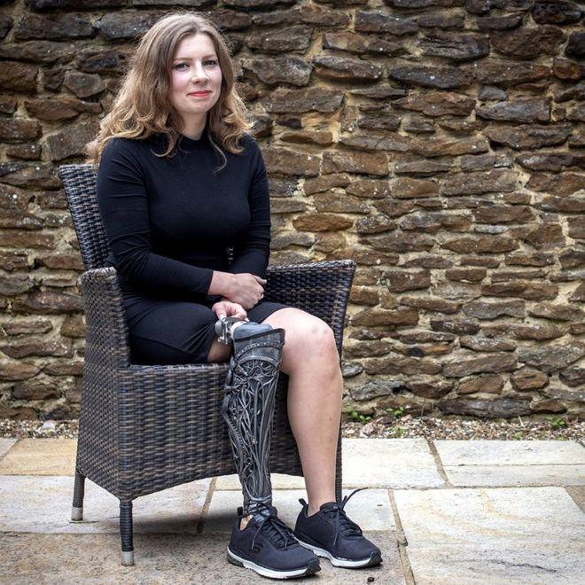 Viktorija in a chair